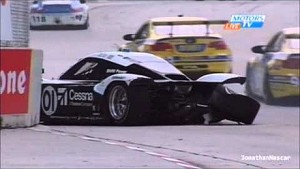 Big Wreck for Rojas & Pew at Detroit Grand Am 2013
