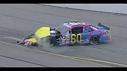 NASCAR Travis Pastrana wreck Iowa 2013