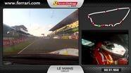 On-board of the Ferrari 458 Challenge: Philipp Baron at Le Mans