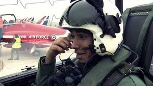 Lewis' flying lap with the RAF Red Arrows