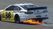David Gilliland catches fire | Pocono (2013)