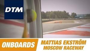 Onboard Mattias Ekström Audi RS 5 DTM - DTM Race Moscow Raceway