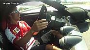 F1 2013 - Ferrari - Fernando Alonso on track at Fiorano with LaFerrari