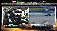 NASCAR Engine trouble sends Jimmie Johnson to the garage | Michigan International Speedway (2013)