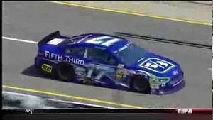 NASCAR Ricky Stenhouse Jr. hits the wall | Michigan International Speedway (2013)
