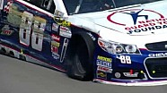 NASCAR Dale Earnhardt Jr. hits the wall | Michigan International Speedway (2013)