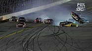 Clint Bowyer Barrel Rolls on Final Lap - Budweiser Duel 2 - 2014 NASCAR Sprint Cup