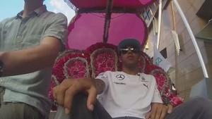 Lewis Hamilton Trishaw Interview