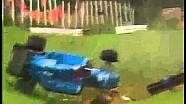 Andrea de Cesaris crash at the 1985 Austrian GP