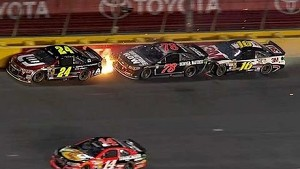 Gordon goes up in flames
