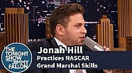 Jonah Hill Practices His NASCAR Grand Marshal Skills