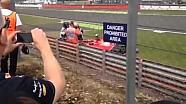 Kimi Räikkönen Huge Crash Silverstone