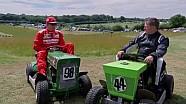 Lawnmower racing with Kimi