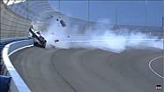 Massive crash of Mikhail Aleshin at Fontana