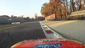Max Papis drives NASCAR around Monza oval track
