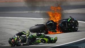 Pol Espargaro crash at Malaysian MotoGP in Sepang 2014