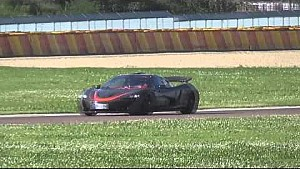 McLaren P1 MSO on the famous Ferrari Circuit Fiorano