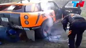 Robby Gordon brake issues - Dakar
