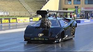 Lamborghini Countach Funny Car at Sydney Dragway