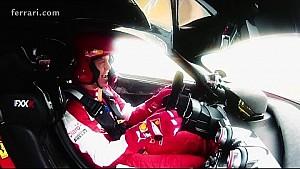 Vettel in the Ferrari FXX K