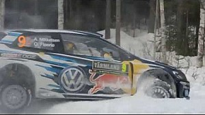 Andreas Mikkelsen spins - Rally Sweden 2015