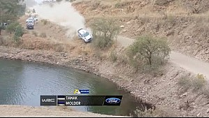 Ott Tanak Rally Mexico 2015 crash into lake