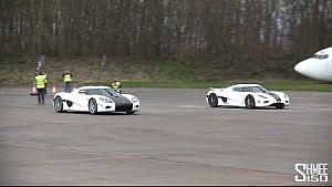 DRAG RACE: Koenigsegg Agera N vs Koenigsegg CCX - Vmax Stealth