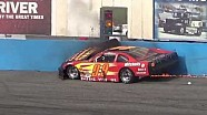 Bad Late Model crash and fire