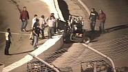 Wild Silver Crown flip - Toledo Speedway - Tanner Swanson into the catchfence