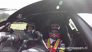 Max Verstappen takes Jos around Spa-Francorchamps in the Renault R.S. 01