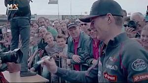Max and Jos Verstappen lap Zandvoort
