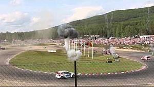 Last lap pass for the win: Mattias Ekström vs Timmy Hansen