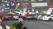 Streetstock crash at Bowman Gray
