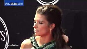 Danica Patrick attends 2015 ESPYs in flowing green dress