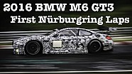BMW M6 GT3 first Nordschleife laps and 2016 Porsche 991 GT3R flyby