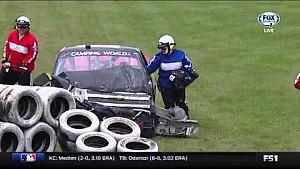 Jennifer Jo Cobb crashes in Mosport practice