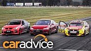 Tesla Model S v Holden V8 Supercar v Walkinshaw HSV GTS Drag Race