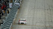 Harvick hits wall during post-race burnout