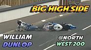 William Dunlop crashes at Northwest 200.